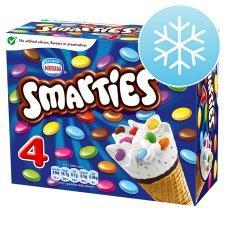 4 Nestle Smarties Icecream Cones £1 @ Tesco was £2.49