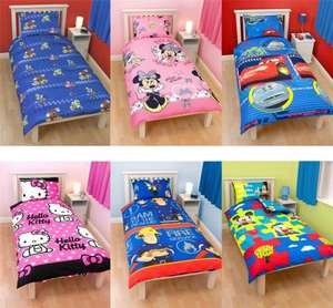 Kids Character Single Bed Duvet Covers £10.99 @ eBay global_megastore
