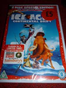 Ice Age 4 Continental Drift  2 Disc DVD £5.00 (Sainsburys Exclusive) @ Sainsburys Instore + ONLINE!