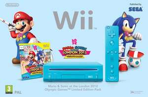 Blue Wii with Mario and Sonic at the winter Olympic games (Pre-owned) - £45 @ GAME