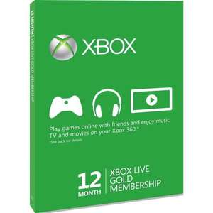 Xbox live gold subscriptions reduced on Amazon - 12 months: £29.99 and 3-months: 11.99