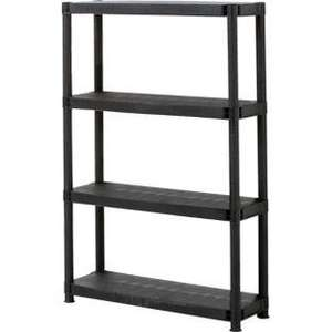 "12"" Plastic 4-Tier Shelf. £9.99 @ Homebase UPDATED: Now £8.49"