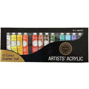 18ml Acrylic Paint Set (12 Pieces) £1.99 @ Homebargains
