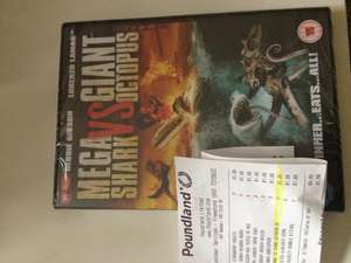 Mega Shark vs Giant Octopus DVD £1 @ Poundland