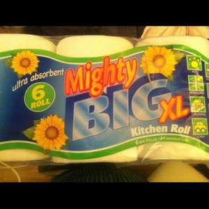 Mighty Big kitchen roll 6 pack - £5 @ Asda
