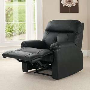Chicago Recliner Chair - Black - £107.95 Delivered @ ASDA Direct