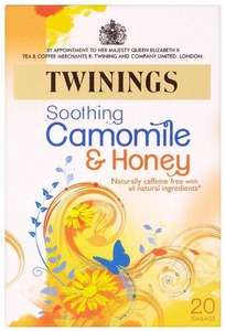 Twinings Camomile, Honey and Vanilla 20 Teabags (Pack of 8, Total 160 Teabags)@ Amazon £4.46  RRP £11.92 + free delivery