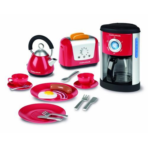 Kids Casdon Morphy Richards Kitchen Set (inc kettle, toaster, coffee maker + crockery/cutlery) now £10 del @ Amazon