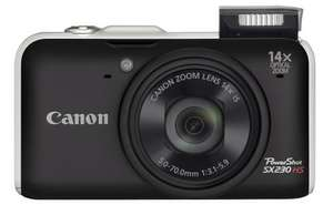 Canon SX230 HS Digital Camera with GPS.  14x Zoom.  12.1MP.  Refurbished with 12 months warranty.  £92.94 delivered from Canon Outlet on ebay