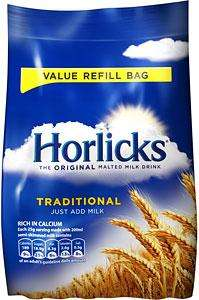 Horlicks Regular & Light 500g Refill Packs £1.29 @ Home Bargains