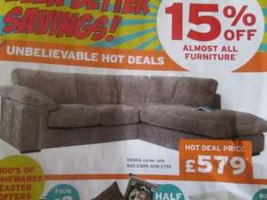 cargo cord corner sofa reduced from £1699 to £579  @Cargo Homeshop