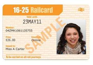 3 Year Railcard for 16-25 year olds