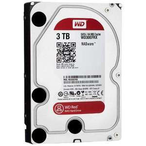 WD Red (optimised for NAS) 3TB 3.5inch SATA6 Internal Hard Drive - £113.48 @ Amazon