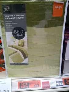 4 Pieces Bed in a Bag (single), £12 at Sainsbury's
