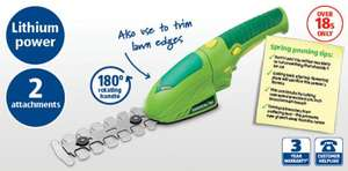 3.6V Cordless Mini Hedge Trimmer £19.99 @ Aldi from Monday 1st April