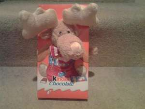 Kinder chocolate with teddy or reindeer 1p at tesco instore