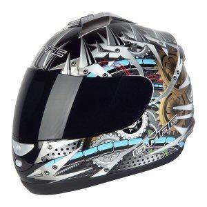 Gmac Mechanoid Mechanika ACU Gold Polytech Full Face Motorcycle Helmet £24.99 Delivered Free@2WHEELJUNKIE