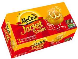 McCains smiles jacket potatoes 2 boxes (6 potatoes)for 2.00 @Farmfoods