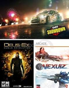 Dirt Showdown + Deus Ex Human Revolution + Nexius Steam Full Games (PC) Digital Download Voucher £4.99 @ ebay freshtech_uk