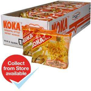 Koka instant noodles 25p per pack! or box of 30 for £7.50@Home Bargains