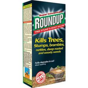 Roundup Tree Stump and Root Killer 250 ml Liquid Concentrate Weedkiller £6.99 @amazon