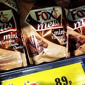 Fox's Melts Mini Viennese Double Chocolate Biscuits, 89p at Home Bargains