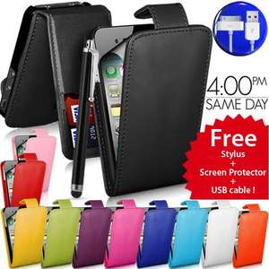 Iphone 4/4s case with stylus, usb cable and screen protector - £0.99 @ Ebay gadgetsntechs
