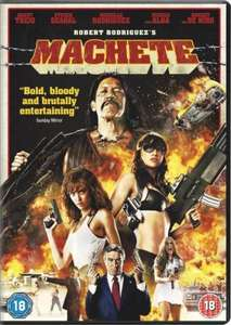 """Machete"" DVD just £2.99 delivered from Zavvi/The Hut"