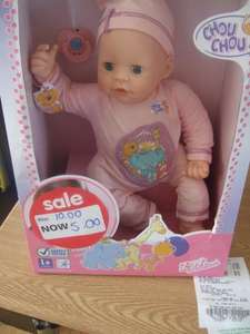 Asda living  Zapf Creation Chou Chou doll was £10.00 now £5.00 Instore altrincham