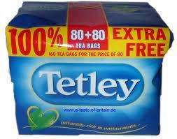 Tetley tea bags 80s + 100% extra free (160) @ £2.35 at Aldi