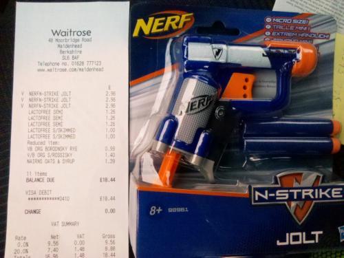 Nerf N Strike Jolt £2.96 instore @ Waitrose