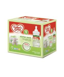 Cow and Gate 12 Feed Starter Pack from Newborn Stage 1 - £13.99 from Mothercare