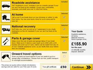 AA New members only £35.90 for 1 year (after quidco + £50 Gift Voucher)