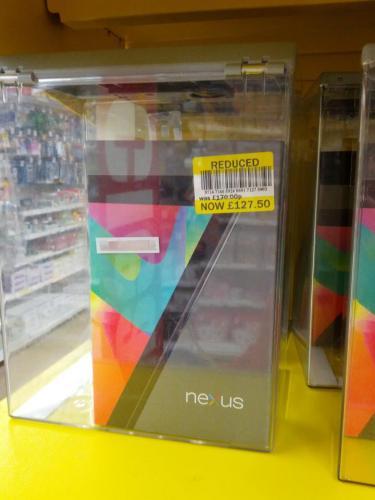 Google Nexus 7 16GB @ Tesco Pembroke Dock Instore £127.50 UPDATED