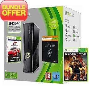 xbox 360 250GB + Forza4 + Skyrim + Gears of war judgement £199 at ASDA Direct