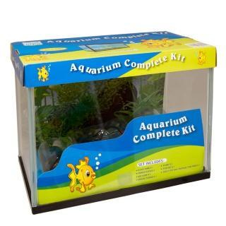 Aquarium Complete Kit (inc Air Pump, net, filter, food) - BM Stores - £12.99