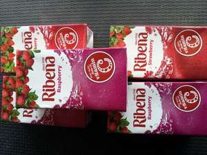 Ribena x 5 cartons for £1 (raspberry and strawberry flavour) instore @ Heron Foods