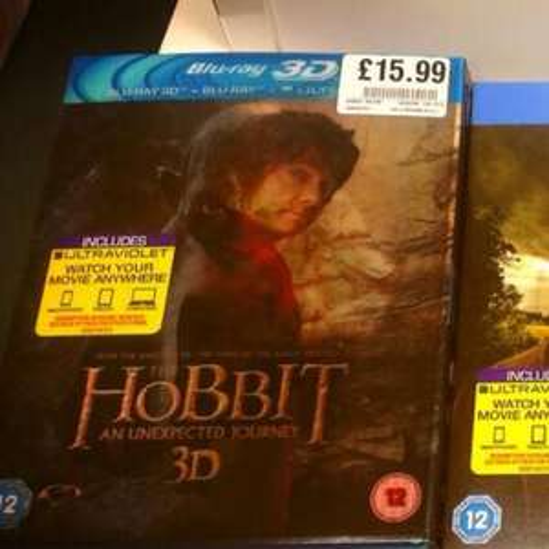 The Hobbit 3D Blu Ray £15.99 @ HMV