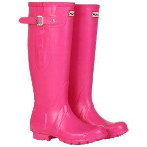 Hunter Pink Wellies reduced from £89 to £72 and then 25% off now £54 @ Allsole