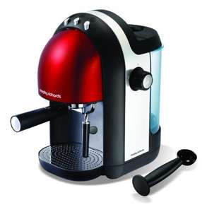 Morphy Richards 47586 Red Meno Espresso Coffee Maker - 2 YEAR WARRANTY @ ebay morphy richards - £51.99