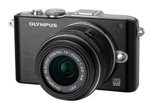 Olympus PEN EPL-3 Compact System Camera with 14-42 lens kit £209.97 @ PC World