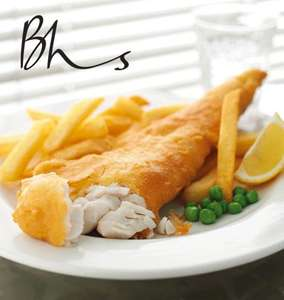 FREE Fish & Chips (when you purchase a Hot Drink) - Starts 15th Apr @ BHS Restaurant