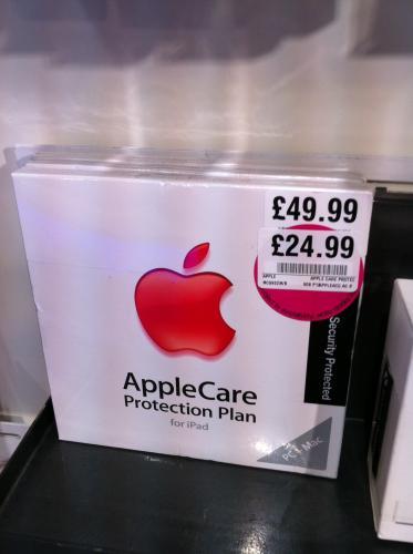 AppleCare Protection Plan for iPad £24.99 @ HMV