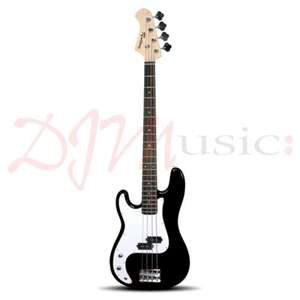 Rockburn Left handed bass guitar (black) only £89.99 from djmmusic.com