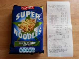 Super Noodles 75p BOGOF instore @ The Co-Op