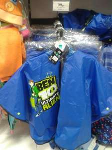 Ben 10 plastic rain poncho/cape with hood 99p @ Home Bargains stores