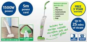 Steam Mop £29.99 1500 Watt 3 Year warranty Aldi