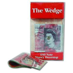 The Wedge £50 Note Money Doorstop £1 @ Poundland