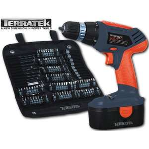 18v Power Drill TERRATEK with 120 piece accessory kit £33.49 Sold by Direct Sales and Fulfilled by Amazon