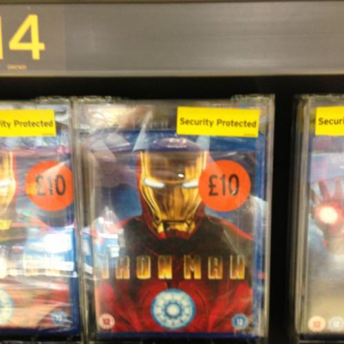 Iron Man 1 - BLURAY £10 @ Sainsburys (in store)